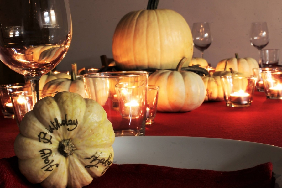 AN INTIMATE BIRTHDAY WITH PUMPKINS